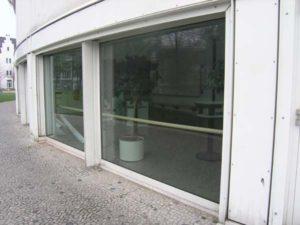 Fensterscheibe mit Antiscratching Folie