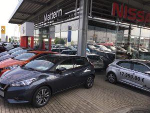 Blendschutz - Autohaus Mattern